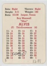 1966 APBA Baseball 1965 Season #MAAL Max Alvis Cleveland Indians Card