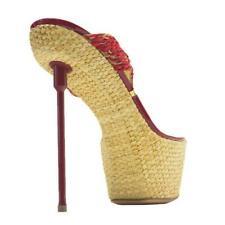 Gianni Renzi/Gml Patent Leather Raffia Platform Thong Sandal