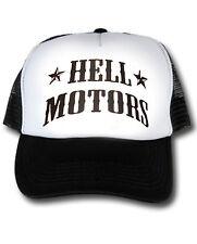 Hot Rod Trucker Base Cap Hellmotors US Car V8 Oldschool Rockabilly Mütze schwarz