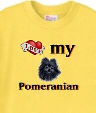 Dog T Shirt - Love My Pomeranian -Adopt Rescue Animal Family Pet  Men Women # 25