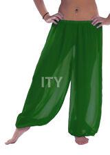Emerald Green Chiffon Harem Yoga Pant Belly Dance Halloween Pantaloons Trousers