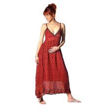Kleid Trägerkleid Maxikleid Abendkleid Sommer Kleider Ärmellos Ethno Goa Amanita