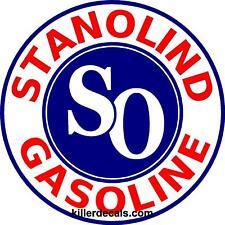"(STANO-1) 24"" STANOLIND AMOCO GASOLINE GAS PUMP OIL TANK DECAL"