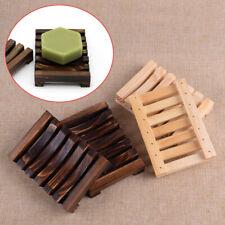 2pcs Pine Wood Shower Bath Soap Dish Tray Holder Storage Plate
