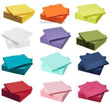 Fantastisk Paper Napkins 3 Ply Tissues Plain White Coloured Party IKea 40x40