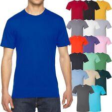 American Apparel T-Shirt Fine Jersey Crewneck Blank Cotton Tee XS-XL, 2XL, 3XL