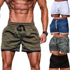 Men Jogging Short Pants Sport Running Athletic Shorts Army Green Bodybuilding