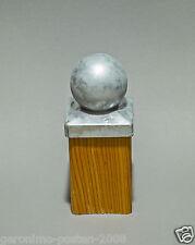 Kugel Form Pfostenkappe Verzinkt für Pfosten 7x7cm - 12x12cm inkl.Schrauben Neu