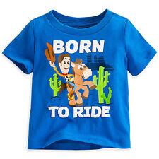 Disney Store Toy Story Woody & Tiro Al Blanco Niño Camiseta Talla 3 6 9 12 Meses