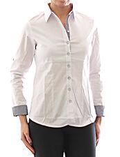 Women's Blouse Shirt Long Sleeve Shirt Tunic Business White Cotton 349