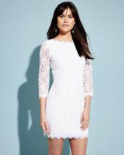 NEW DVF Diane von Furstenberg Colleen Lace Wedding Sheath Dress White 10
