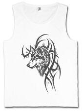 WOLF & TRIBAL TANK TOP Skull Dragon Vikings Norse Norsemen Odin Thor Valhalla
