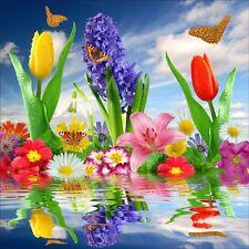 Pegatinas de pared decoración : flores y mariposas 1237