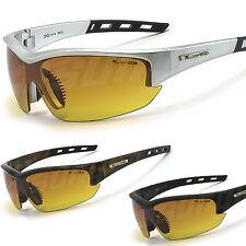 Sports Sunglasses X-Loop Mens One Piece Lens High Def HD Eliminates Haze New