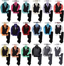 JL40 Johnnie Lene Pinstripe Boys Formal Dresswear Vest Set