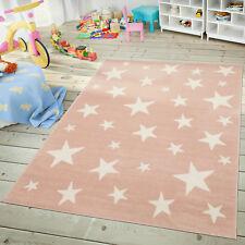 Kinder- & Jugendzimmer Teppich Im Sternhimmel Design Pastell Trend In Rosa Weiß