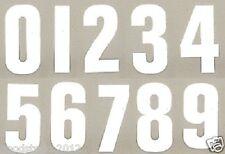 """WHITE 7"""" GARDEN WHEELIE BIN HOUSE NUMBER VINYL LABELS STICKERS SELF ADHESIVE"""