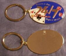 Metal Key Ring Las Vegas open 24/7 NEW