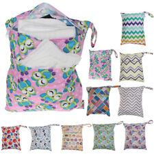 Travel Baby Nappy Wet Dry Bags Baby Waterproof Cloth Diaper Bag Zipper Reusable