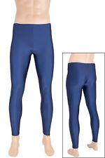 Herren Leggings marine Leggin Lange Sporthose Glanz elastisch Größen S bis XXL