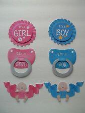 3D - U Pick - BA7 Its a Boy Girl  Baby Bear Banner Scrapbook Card Embellishment