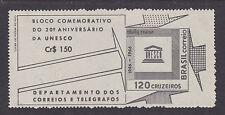 Brazil Sc 1027a MNH.  1966 Unesco Souvenir Sheet