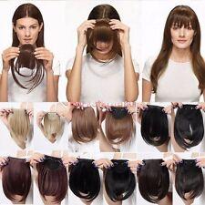 Fashion bang Pony Clip in Extensions Haarverlängerung Haarteil Braun Blond pta9