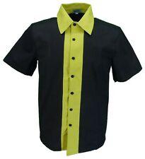 Mens Retro Black and Yellow Rockabilly Bowling Shirts