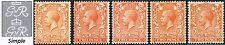 1912-24 KGV Royal Cypher 2d Concise Shades SG 366, 367, 368, 369, 370