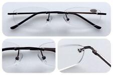 L283 Rimless Reading Glasses/Spring Hinges/Classic Smart Style Design/Unisex