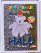Ty S2 Beanie Card Birthday Halo Bear Blue