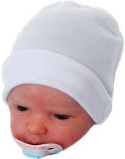 Baumwoll Mützchen Baby Mütze 50 56 62 68 unisex Erstlingsmütze Haube Weiß