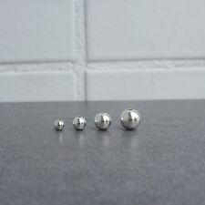 10pcs,6mm,8mm,10mm,12mm,Seamless 925 Sterling Silver Ball Beads,DIY Jewelry Make