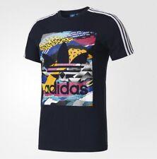 New Adidas Original Men Los Angeles Box Graphic Tees navy colorful shirt BK7695