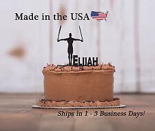 Rings, Gymnastics, Male Gymnast Cake Topper, Customized Birthday Keepsake-LT1191