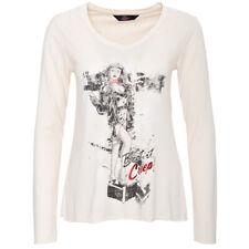 Queen Kerosin Langarm Shirt - Cry Baby Beige Vintage Rockabilly Longsleeve