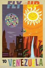 Venezuela - Vintage Air Travel Reproduction Poster or Canvas Print 20x30