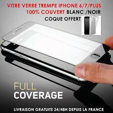 Film protection écran VITRE VERRE TREMPE total iPhone 6/ 6S/7/8 + Coque housse