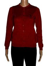Romeo Sarti Cardigan rosso lady Zegna Baruffa Cashwool® 100% Made in Italy