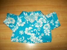 "BLUE Hawaiian ALOHA SHIRT flowers ferns for 16/"" CPK Cabbage Patch Kids"