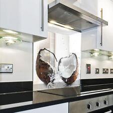 Splashback Protezione dietro piano cottura fornelli cocco esotico bianco
