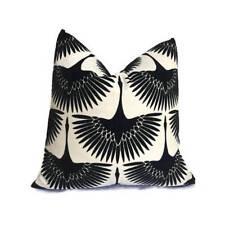 Genevive Gorder Flock Velvet Pillow Cover in Onyx