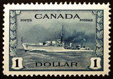 Canada #262 $1 Deep Blue 1942-43 VF-XF *MNH* CV $150+