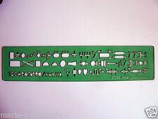 Normograph technique symboles electriques Tecnostyl n° 669 ESSEL TEDF neuf  RARE