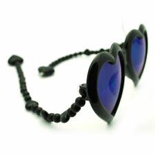 Color Mirror Lens Heart Shape Party Shade w/ Unique Flexible Bead Arms