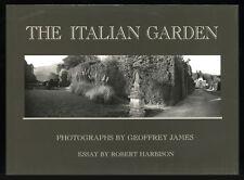 The Italian Garden, Panoramic Photographs by Geoffrey James, Dj, HB, 1991 Book