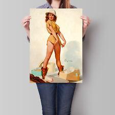 Pin Up Vintage Poster Gil Elvgren Safari Girl Retro Art A2 A3 A4