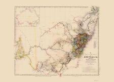 Old Australia Map - Southeast Australia - Arrowsmith 1844 - 23 x 31.95
