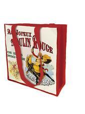 Large New Reuseable Shopping Bag Vintage Paris Moulin Rouge Dancing Joyeux Danse