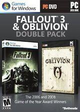 Fallout 3 & Oblivion Double Pack, Very Good Windows XP, Windows 7, Windows V Vi